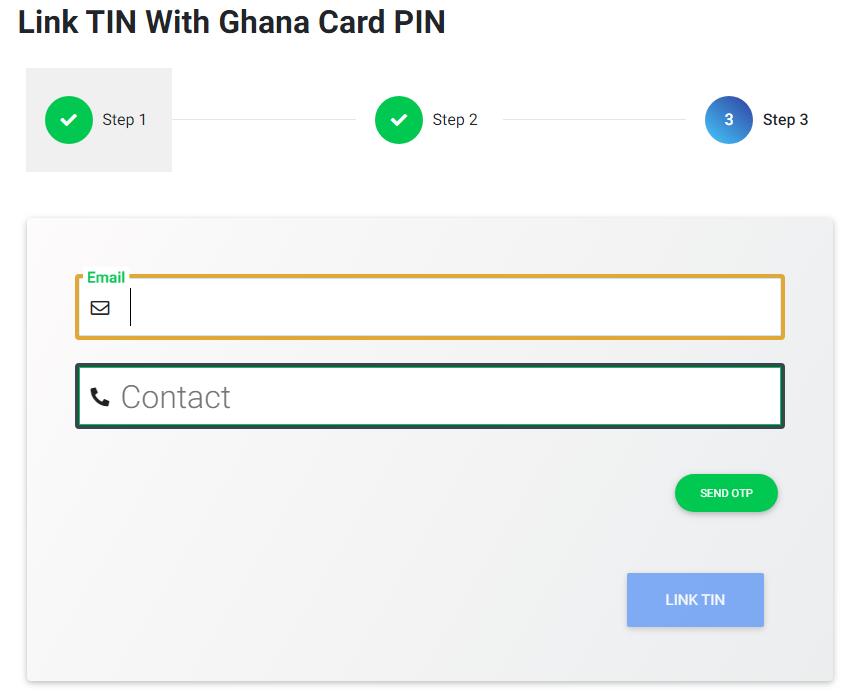 Link Ghana Card PIN